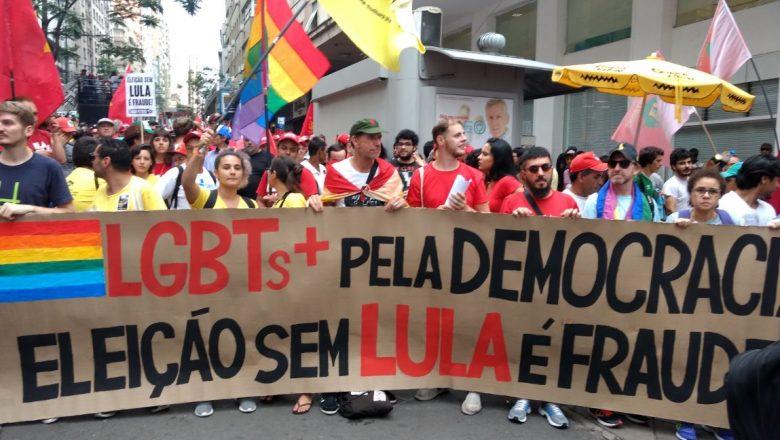 Movimento LGBT e partidos de esquerda farão manifestação no Largo do Arouche. Foto: PT/Divulgação