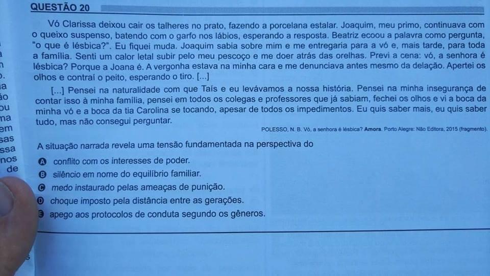 enem 2018 lésbica conto Amora vó lésbica