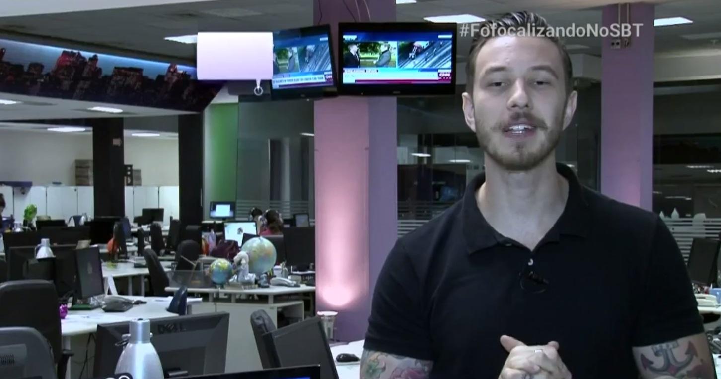 Gabriel Cartolano, o apresentador gato do Fofocalizando, do SBT