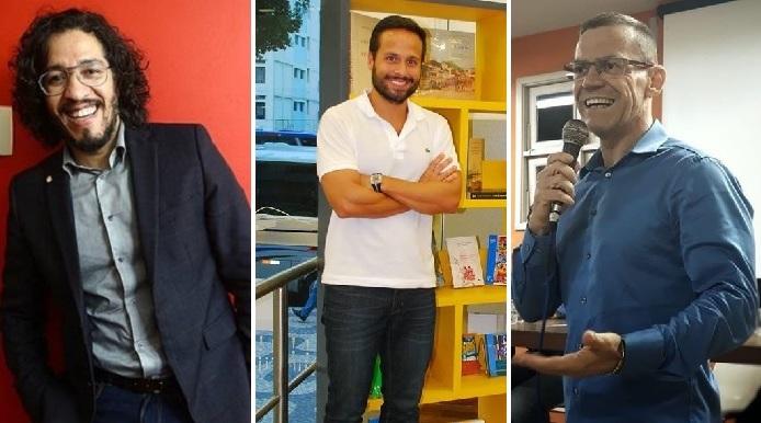Marcelo Calero, Jean Wyllys e Fabiano Contarato: congressistas gays eleitos em 2018
