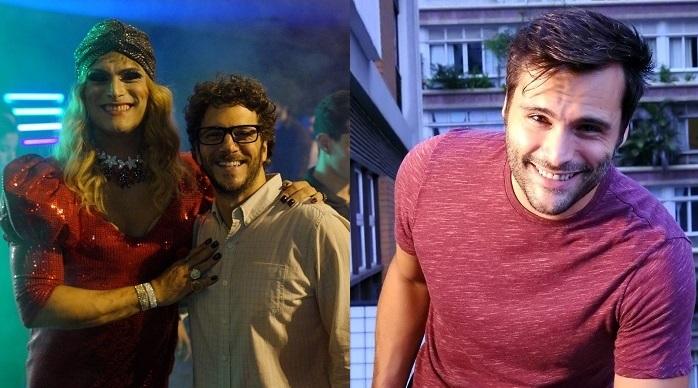 Leandro Luna (com Elam Lima) vive uma drag queen em Desencontros na Sony