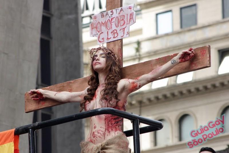Viviany Belebony na Parada do Orgulho LGBT de São Paulo: transexuais e travestis serão tema da 20ª edição, de 2016, do evento