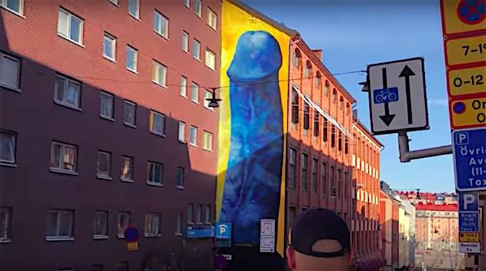 Pênis gigante causa polêmica em Estocolmo, Suécia