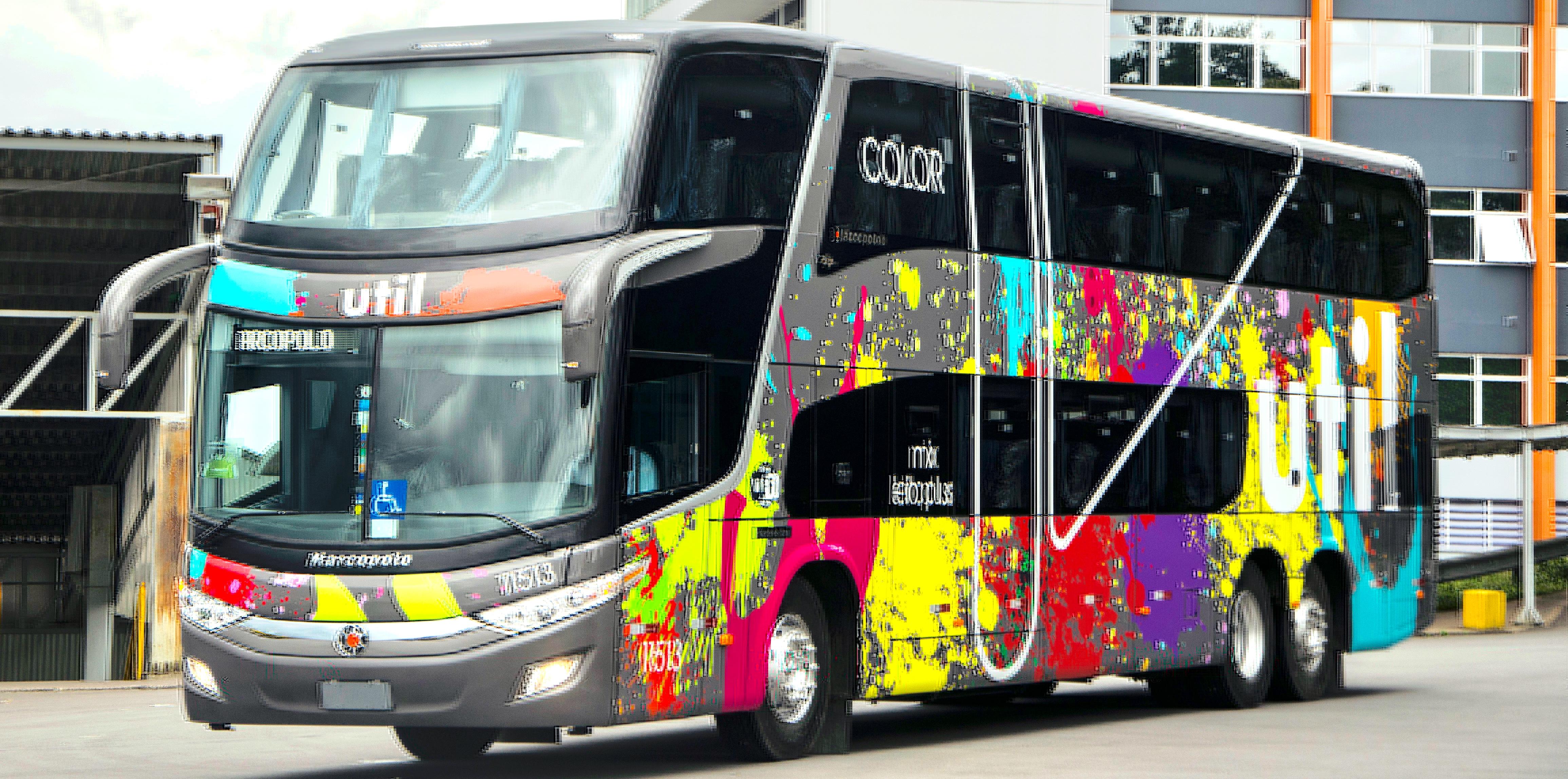 Empresa de viação rodoviária Util lança ônibus coloridos para promover inclusão a LGBT